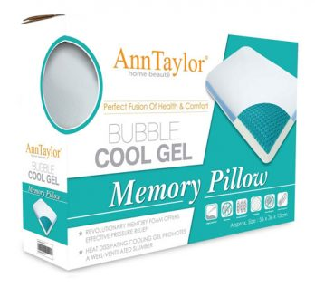 ANN TAYLOR - MEMORY FOAM PILLOW  (Bubble Cooling Gel)